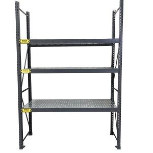 Medium duty hole shelf racking