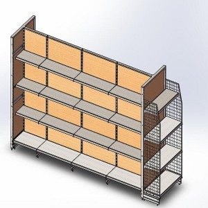 Timber shelving PPH35-18W