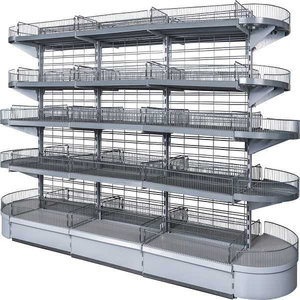 Grid ais shelving