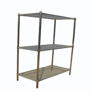Wire shelving square post shelving
