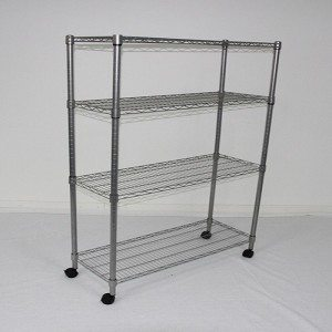Rolling wire shelving