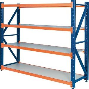 Medium duty steel shelf racking