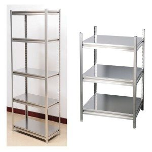 Stainless rivet shelving