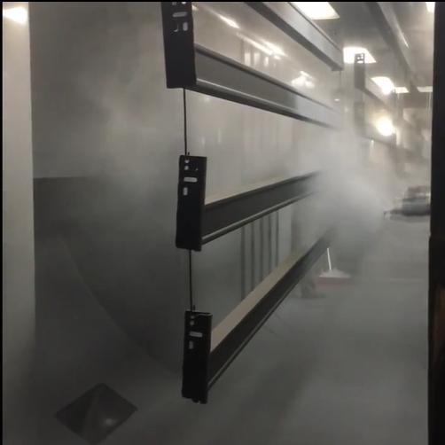New powder coating line
