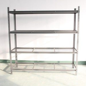 Mesh shelving rivet decking