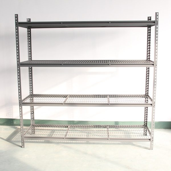 Mesh decking rivet shelving