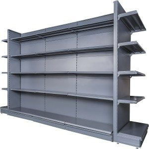 Wholesale ODM Black Gondola Medium Duty Shop Shelving Unit