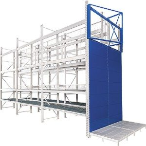 Heavy duty mesh decking racking