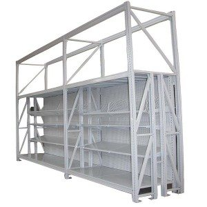 Integrated display shelving